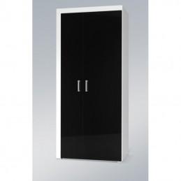Lambo skřín 1-černo/bílá lesk