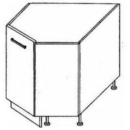 Titanum- Dolní skříňka 30 Roh