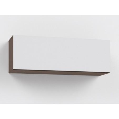 Závěsná skříňka Rebecca 8K+ 8/DL -Lacobel bílá