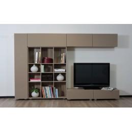 Moderní obývací stěna Rebecca-vysoký lesk cappucino
