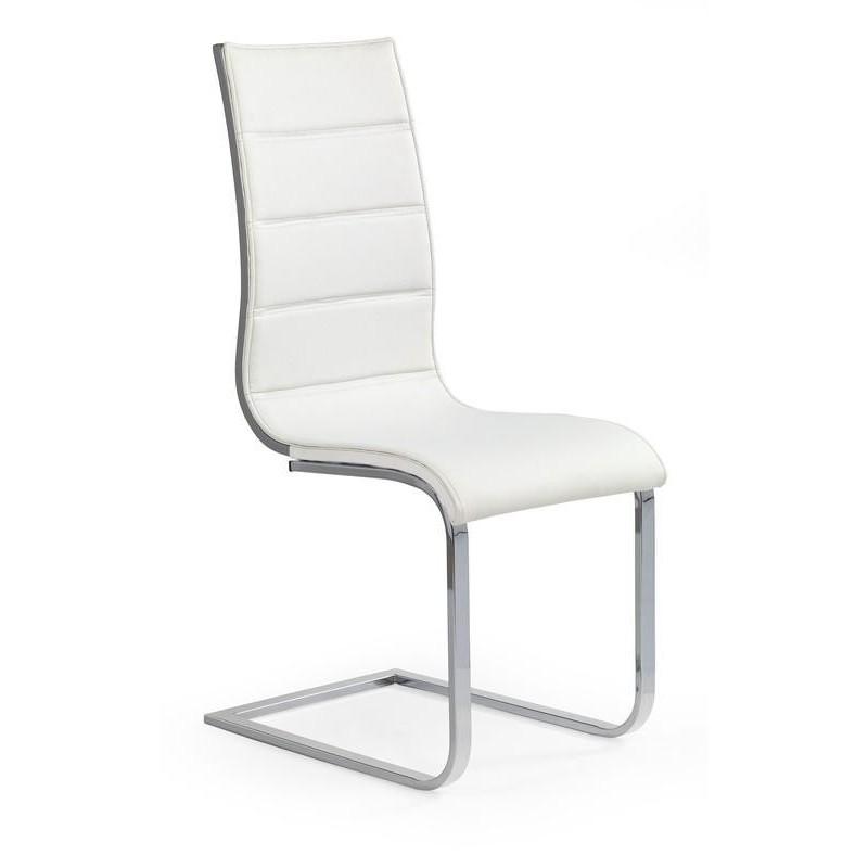Designová jídelní židle K104, Bílá/šedé záda