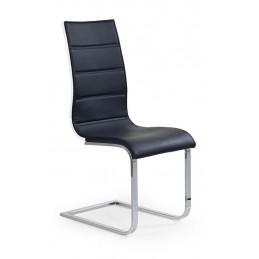 Designová jídelní židle K104, Černá/bílé záda