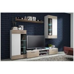 Moderní obývací stěna Tiego, sonoma/bílá