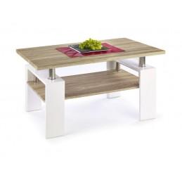 Konferenční stolek DIANA H MDF dub sonoma/ bílý lesk