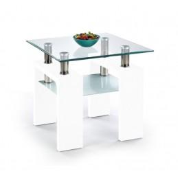 Konferenční stůl H kwadrat 2, bílý lesk