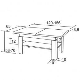 Rozkládací konferenční stůl K36