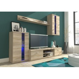 Moderní obývací stěna FELI dub sonoma