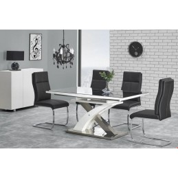 Moderní jídelní stůl SANDOR 2 černý