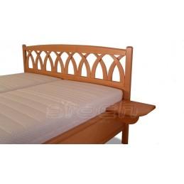 Moderní postel Beatrice MASIV s roštem a ÚP