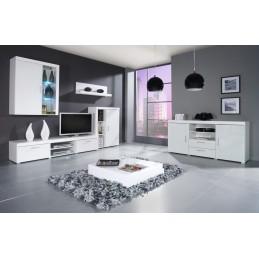 Obývací stěna Lambo 1, bílá/bílý lesk