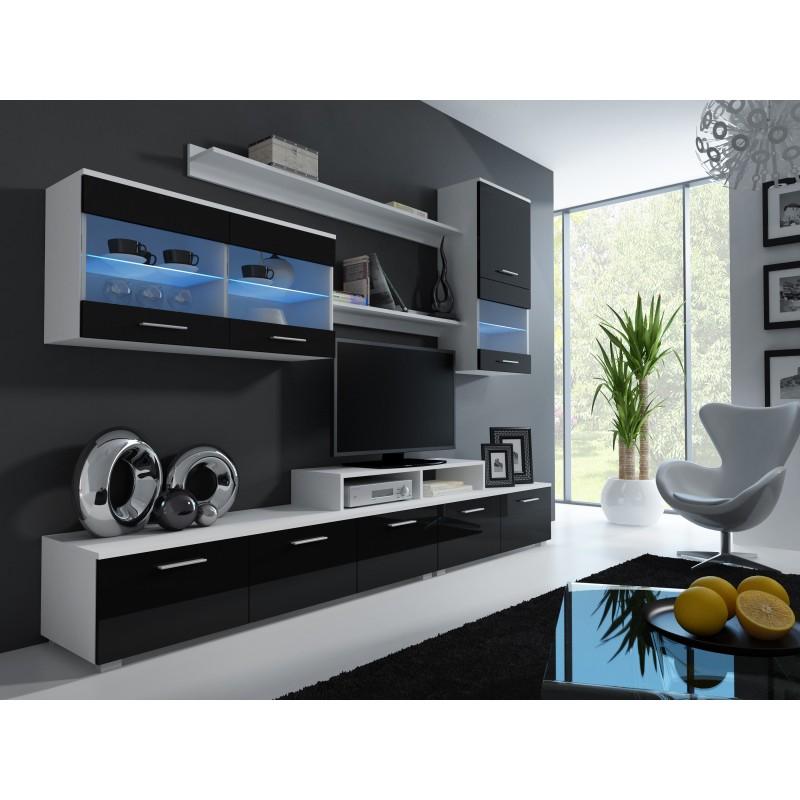 Moderní obývací stěna OGOL II BLACK