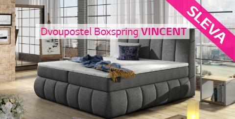 Dvoupostel Boxspring VINCENT - AKCE