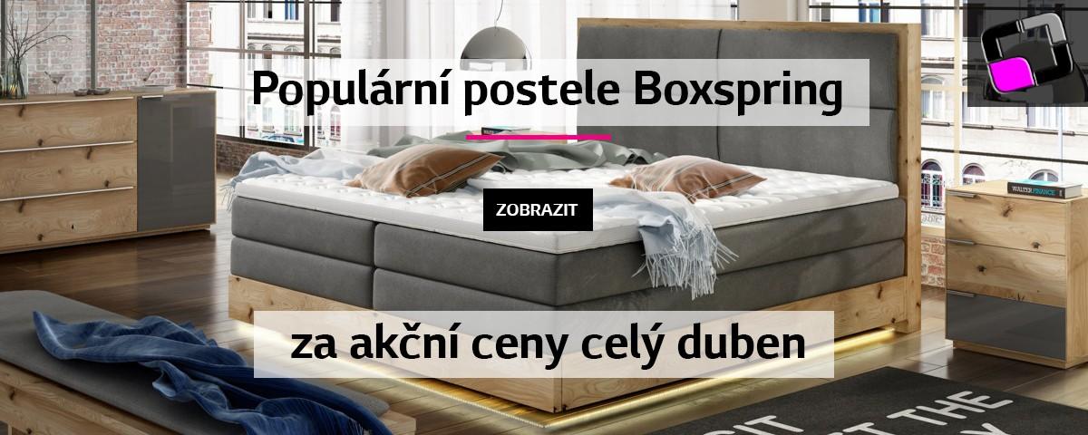 AKCE - Boxspring postele - Duben